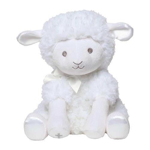 "12"" PLUSH MUSICAL WIND-UP TOY LAMB - JESUS LOVES ME"