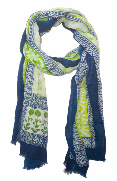Gretchen Scott Printed Modal Scarf   Springtime   in a pinch gifts.myshopify.com