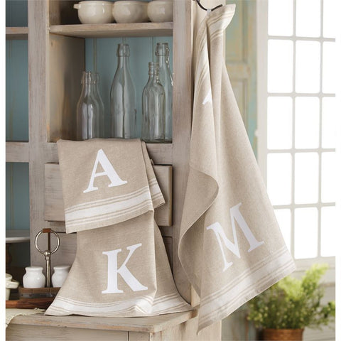 INITIAL GRAIN SACK TOWEL