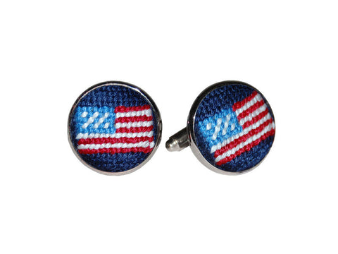 American Flag Needlepoint Cufflinks   in a pinch gifts.myshopify.com