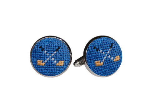 Golf Clubs Needlepoint Cufflinks   in a pinch gifts.myshopify.com