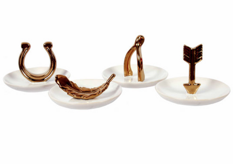 Gold Plated Jewelry Holder & Tidbit Dish