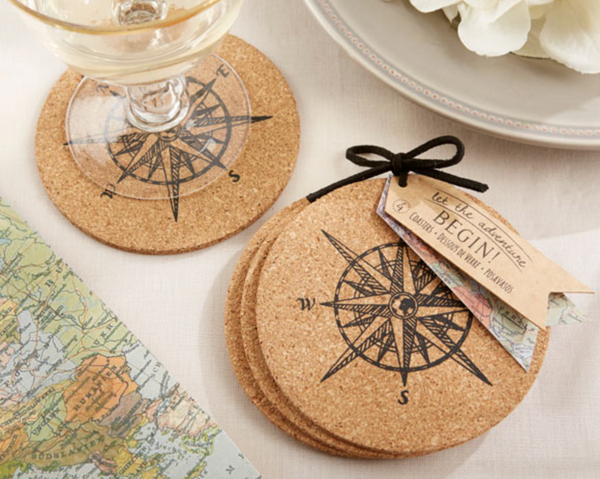 """LET THE JOURNEY BEGIN"" CORK COASTERS"