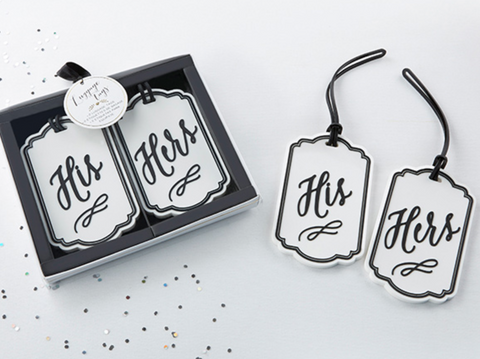 CLASSIC HIS AND HERS LUGGAGE TAGS
