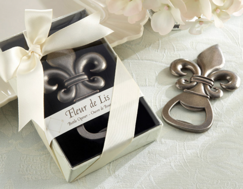 """FLEUR DE LIS"" PEWTER-FINISH BOTTLE OPENER"