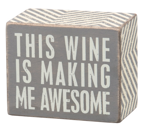 Gray Box Sign - Wine Awesome
