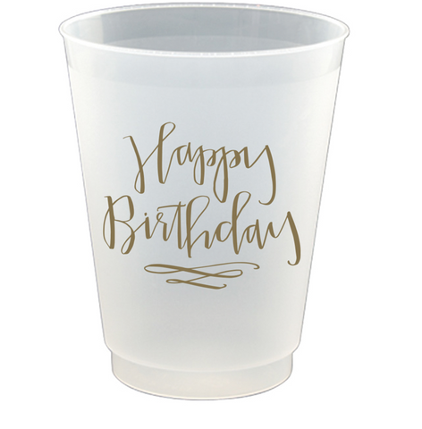 16oz 8ct Frost Flex Cup Happy Birthday