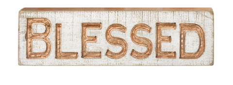 Carved Sign - Blessed