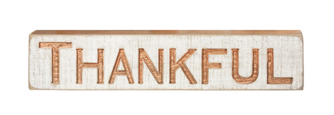 Carved Sign - Thankful