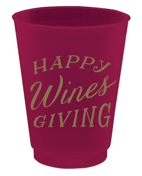 16oz Happy Wines Giving Frost Flex Cup (Set of 8)