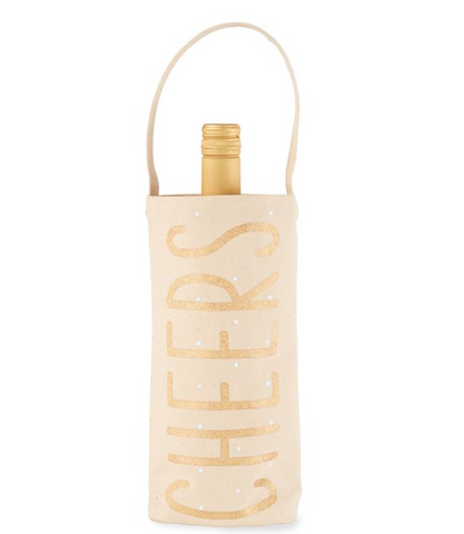 GOLD CANVAS HOLIDAY WINE BAGS