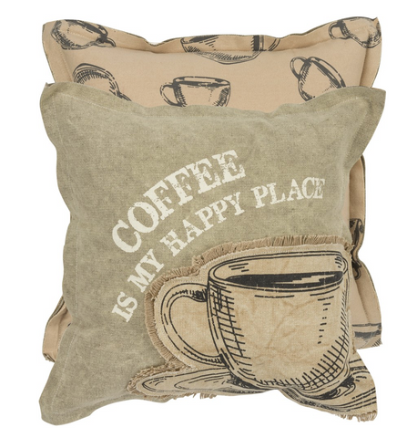 Canvas Pillow - Coffee