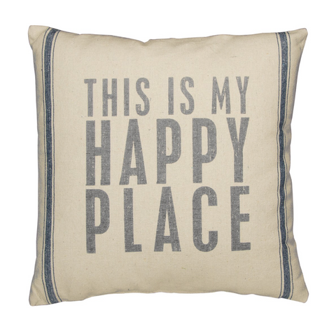 Beach Pillow - Happy Place