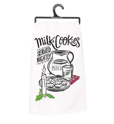 Dish Towel - Milk & Cookies