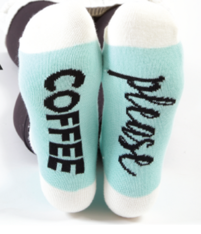 """Coffee Please"" Slipper Socks"