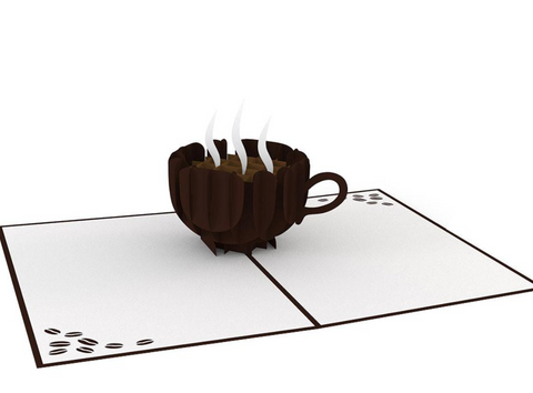 Coffee Cup 3D card
