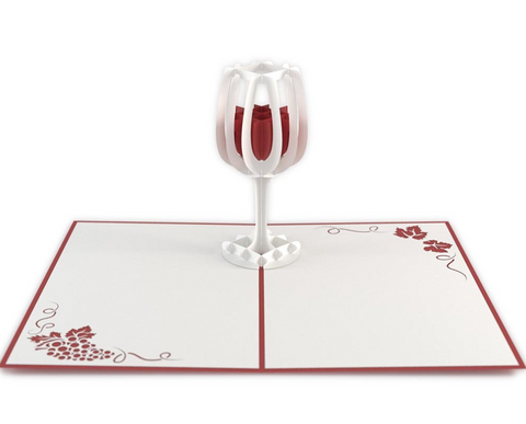 Wine Glass 3D card