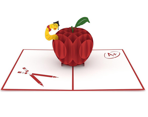 Teacher's Apple 3D card