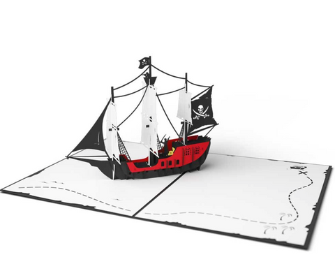 Pirate Ship 3D card
