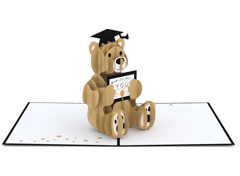 Graduation Bear 3D card
