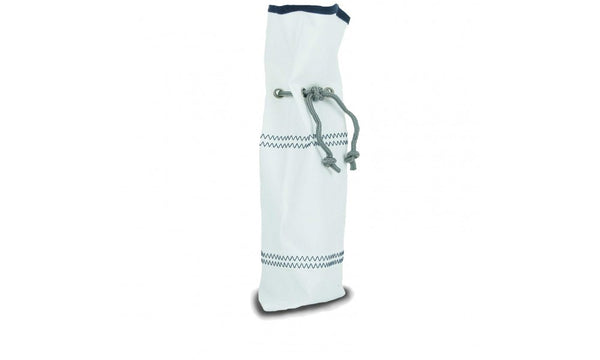 Chesapeake Wine Gift Bag, (White with Blue Trim)   in a pinch gifts.myshopify.com
