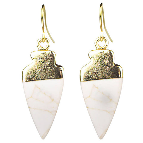 "1 1/2"" Arrowhead Drop Earrings"
