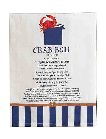 Recipe Towel - Crab Boil