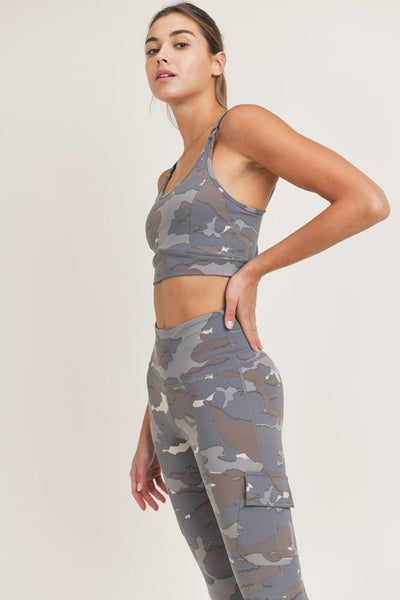 Blue Camo Peekaboo Back