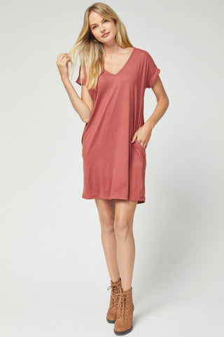 Marsala TShirt Dress