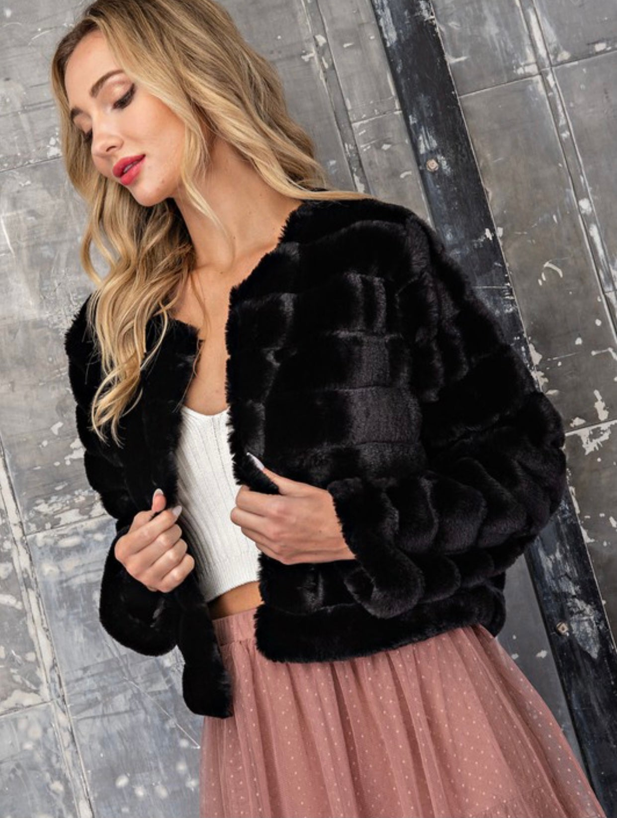 Faux Fur Puffer Coat