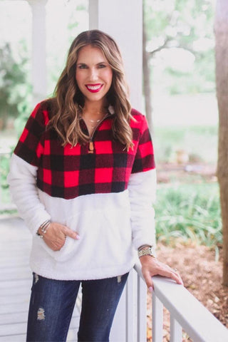 Bella Buffalo Plaid Pullover