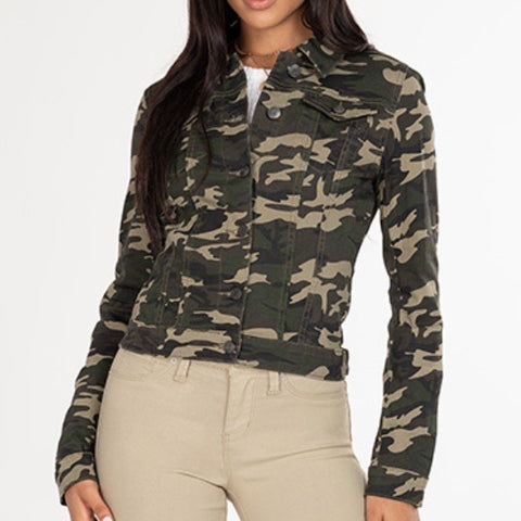 Camo Classic Denim Jacket