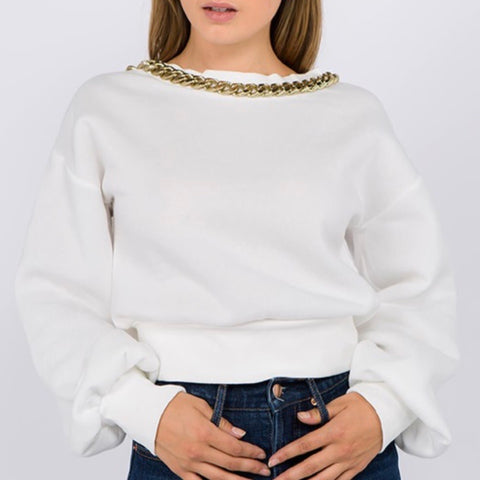 Low Chain Over Sized Sweatshirt