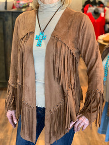 Camel Long Sleeve Fringe