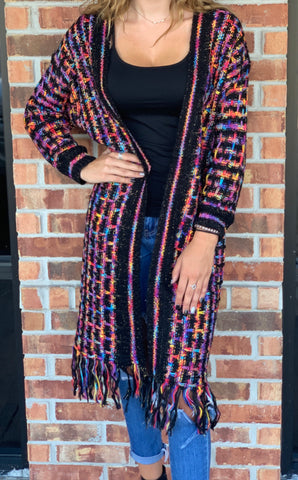 Black Multi Cardigan