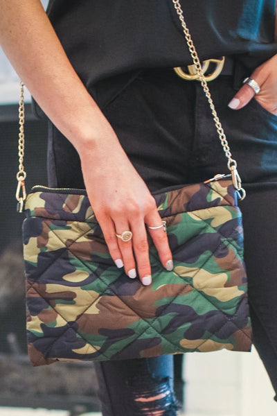 Puffy Printed Clutch