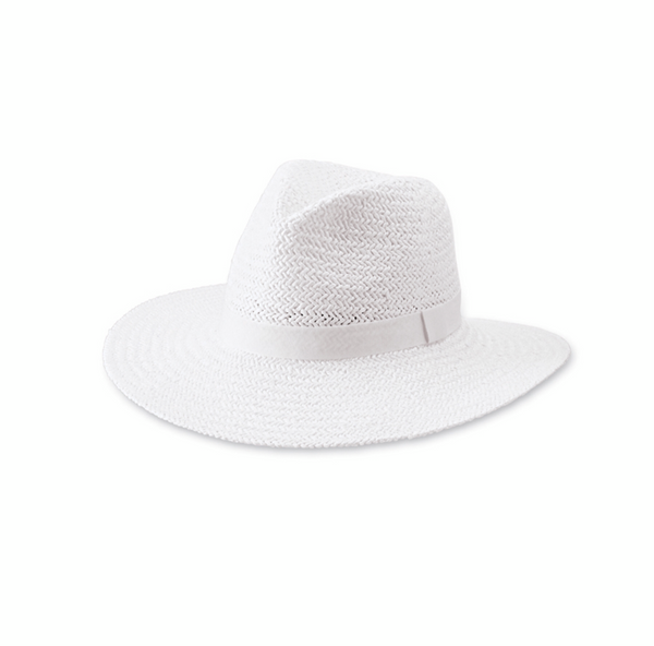 Solid Woven Fedora