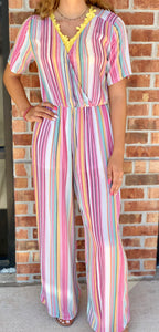 Rainbow Stripe Jumpsuit