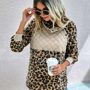 Khaki Quilted Leopard