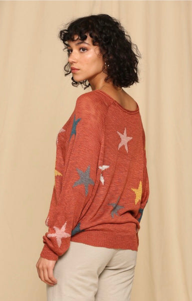 Copper Multi Star Pullover