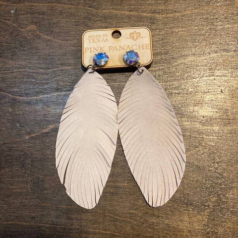 Feather & Crystal Earring