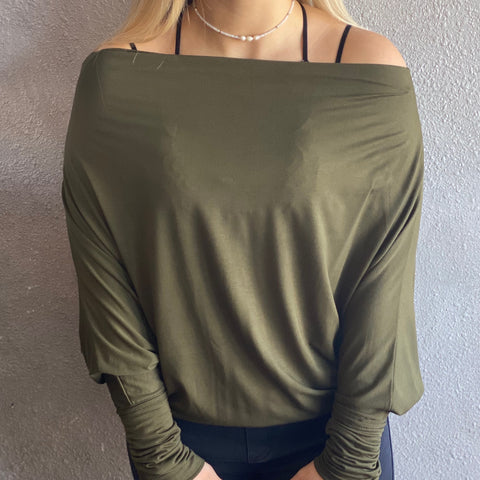 Olive Off Shoulder