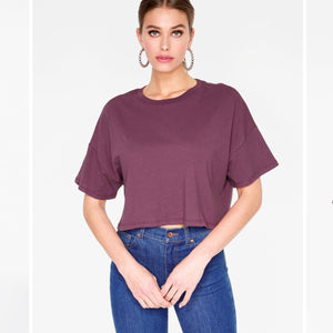 Maroon Crop Top Tee