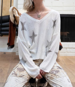 Ivory Ash Star Sweater
