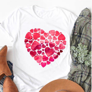 Watercolor Heart Graphic Tee