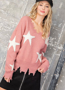 Mauve Star Sweater