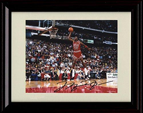 a913abd526e Framed Michael Jordan Dunk Contest Autograph Replica Print - Chicago Bulls  - FSPrints