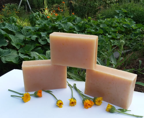 Peach and Calendula Soap