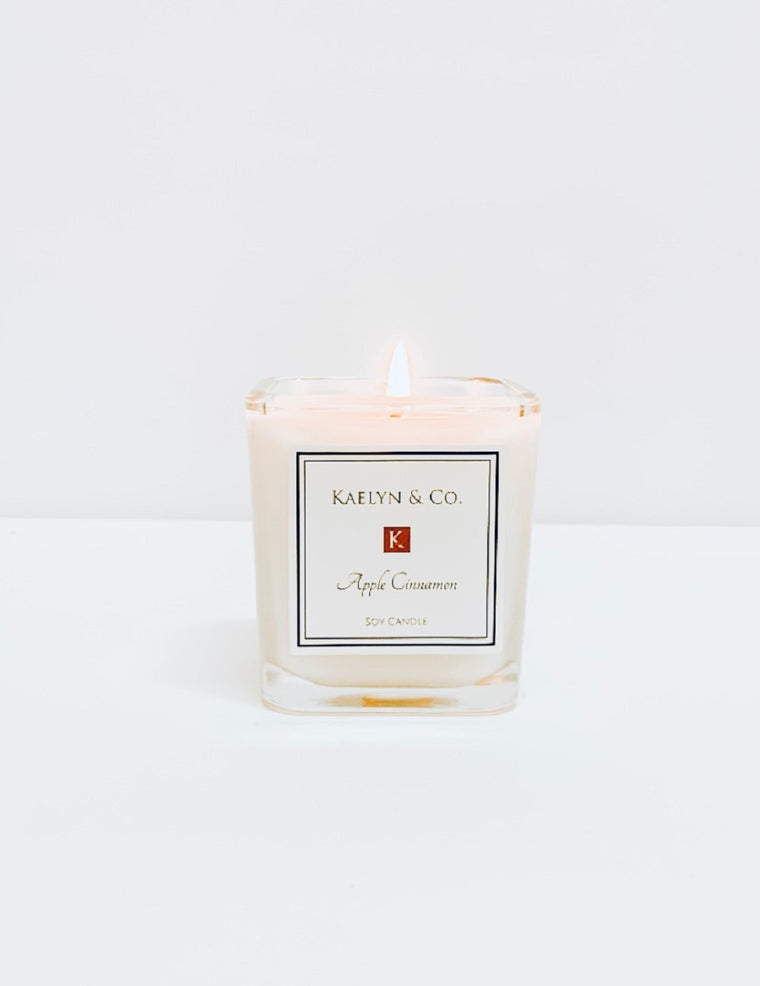 Apple Cinnamon Small Cube Candle - Kaelyn & Co.