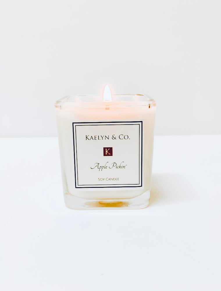 Apple Picking Small Cube Candle - Kaelyn & Co.